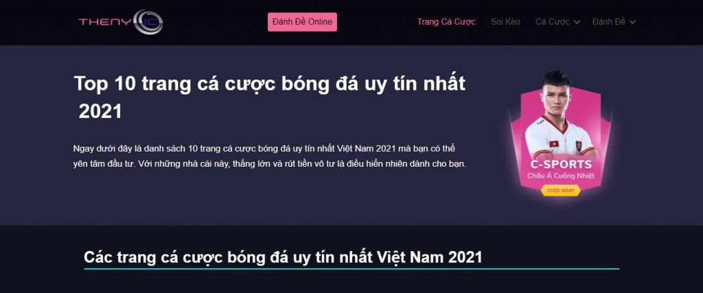 Giao diện Thenyic